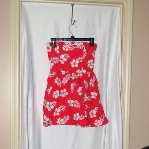 Hollister Brand Sleeveless Pink Hibiscus Dress